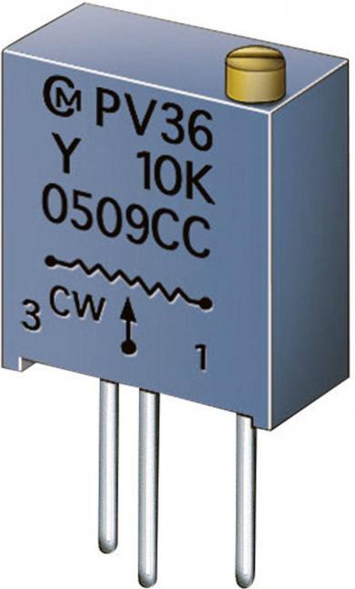 Potenţiometru cermet Murata PV 36 Y, PV36Y501C01B00, 500 Ω