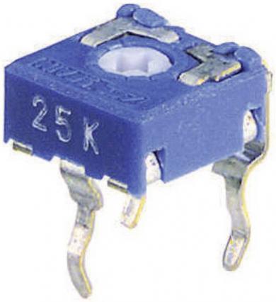 Potenţiometru miniatură orizontal CA 6 V, 0,1 W, ± 20 %, 500 kΩ