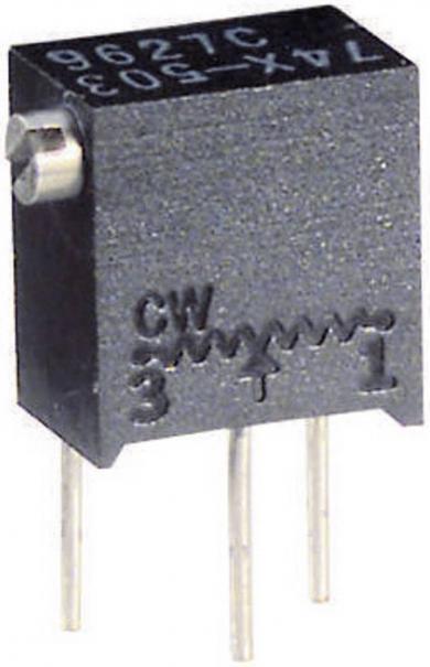 Potenţiometru multifuncțional multitură Visay, regulator lateral, tip 74 X, 500 Ω