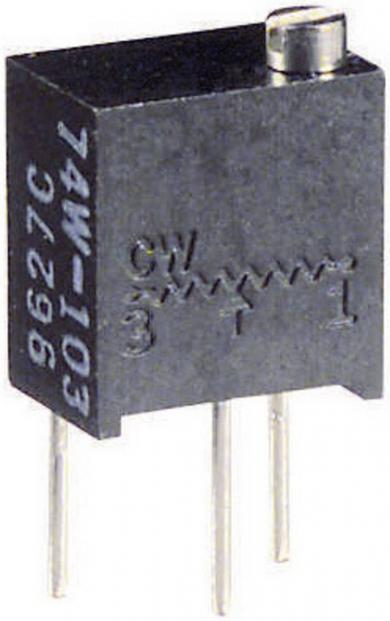 Potenţiometru multifuncțional multitură Visay, regulator sus, tip 74 W, 10 kΩ