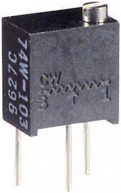 Potenţiometru multifuncțional multitură Visay, regulator sus, tip 74 W, 100 kΩ