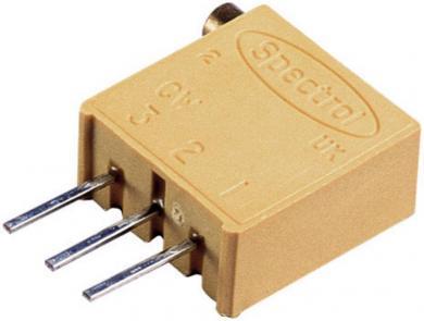 Potenţiometru de precizie multitură Visay, regulator lateral, tip 64 X, 100 Ω