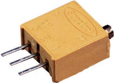 Potenţiometru de precizie multitură Visay, regulator sus, tip 64 W, 500 Ω