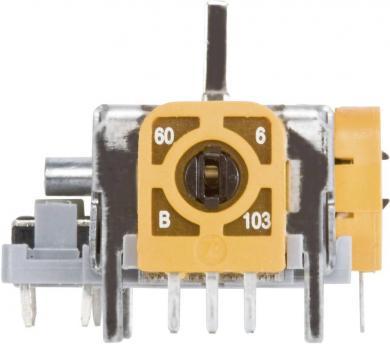 Potenţiometru Joystick 3D cu comutator, manetă metal, 10 kΩ, 60 W, ± 20 %