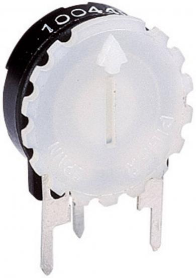 Buton moletat Piher pentru PT 15 N, negru