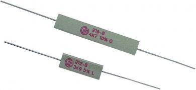 Rezistenţă de putere 12 Ω, axială, 5 W, VitrOhm KH208-810B12R, 1 buc.