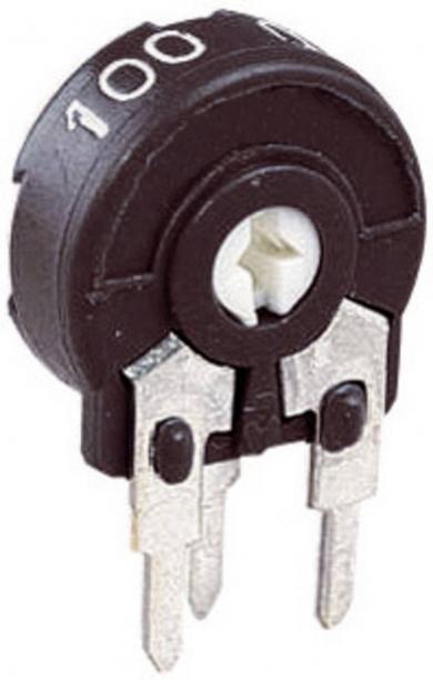 Potenţiometru miniatură vertical Piher PT 10 LH, 100 Ω