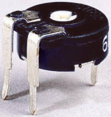Potenţiometru miniatură orizontal Piher PT 10 LV, 50 kΩ