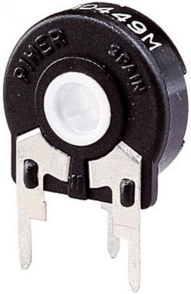 Potenţiometru vertical Piher PT 15 NH pentru ax, 500 Ω