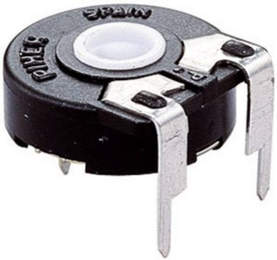 Potenţiometru orizontal Piher PT 15 NV pentru ax, 100 kΩ