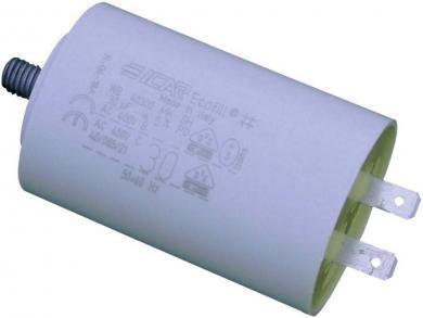 Condensator pentru motoare, radial, 10 µF, 450 V/AC, 5 %, (Ø x Î) 30 x 71 mm, WB4080/B 350mm