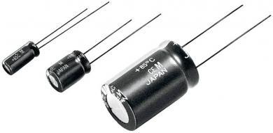 Condensator electrolitic radial ECA tip ECA1JM101, 100 µF, 63 V, RM 3.5 mm, (Ø x L), 8 mm x 11.5 mm
