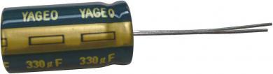 Condensator electrolitic radial, 6,3 V, 470 µF, (Ø x Î) 8 mm x 11 mm, Yageo SY006M0470B3F-0811