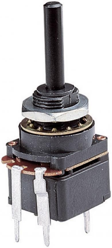 Potenţiometru rotativ cu comutator, Lin, 330 kΩ, Ø ax 4 mm