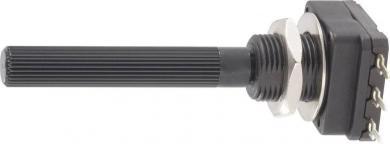 Potenţiometru Piher PC-16, PC16SH-10IP06101A2020MTA, mono, lin, 100 Ω
