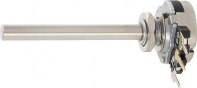 Potenţiometru Piher T-16, T16SH-M04N104B2020MTA, mono, log, 0,1 W, 100 kΩ