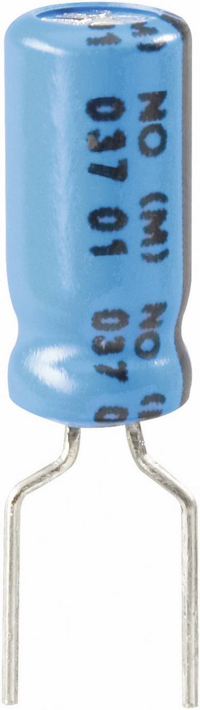 Condensator radial Vishay, seria 037, RM 5 mm, 100 µF, 25 V