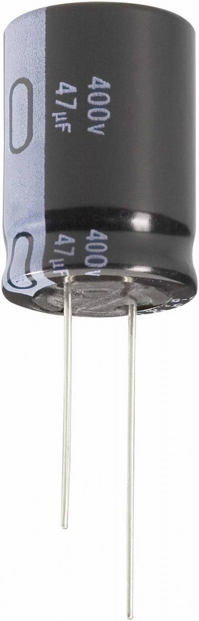 Condensator radial de înaltă tensiune, Long-Life Jianghai, RM 7,5 mm, 47 µF, 400 V