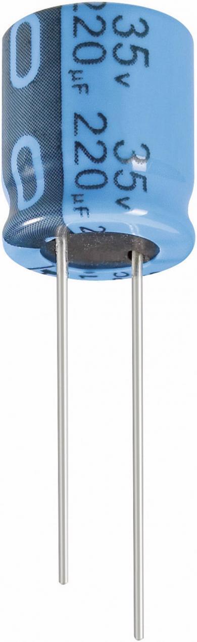 Condensator radial standard Jianghai, RM 7,5 mm, 2200 µF, 35 V