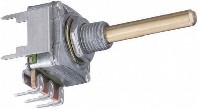 Potenţiometru rotativ ALPHASTAT 16, tip 3008, mono, 100 kΩ, 0,2 W, Lin, Ø ax 4 mm