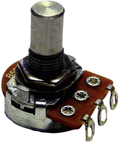 Potenţiometru rotativ ALPHA POT 16, tip 9309, mono, 250 kΩ, 0,2 W, Lin, Ø ax 6.35 mm
