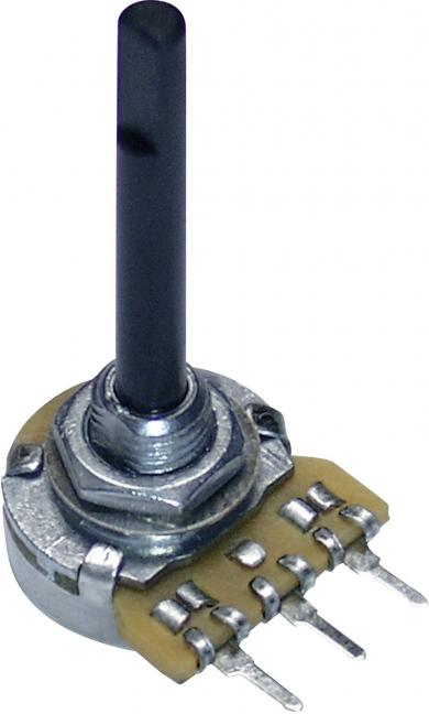 Potenţiometru 16 mm PC16BU, tip 9608, mono, Lin, 100 kΩ, 0,25 W