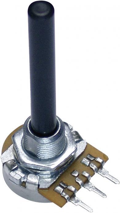 Potenţiometru 20 mm PC20BU, tip 9808, mono, Lin, 100 kΩ, 0,25 W