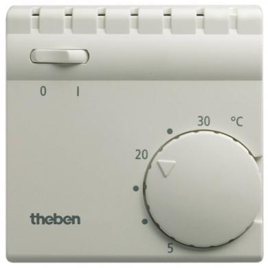 Termostat de cameră, montare la suprafaţă, 5 la 30 °C, Theben Ramses 705