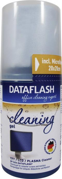 Gel de curăţare TFT, LCD, ecrane plasmă + lavetă microfibre, 200 ml, DataFlash DF1624