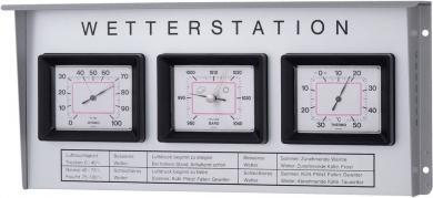Stație meteo analogică de exterior, oțel inoxidabil, TFA 20.1019