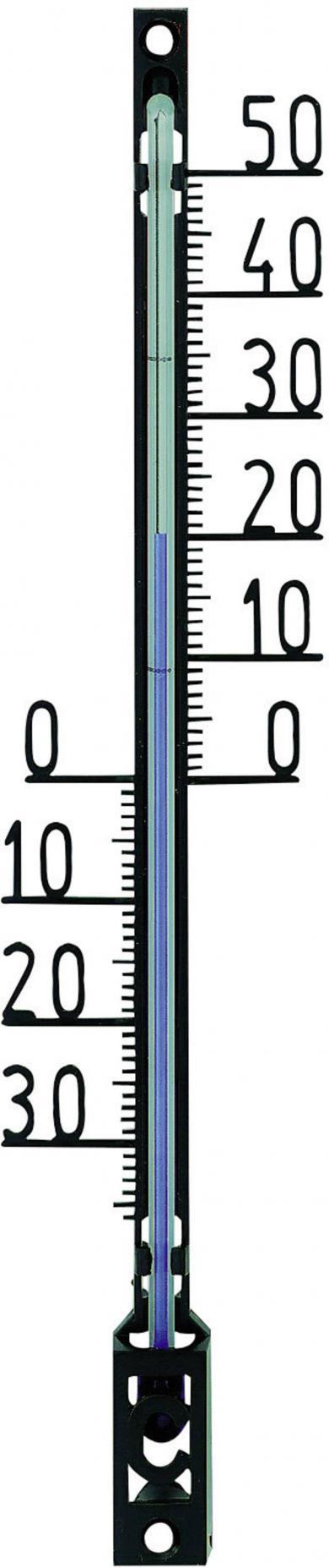 Termometru analogic de perete, negru, TFA 12.6001.01.90