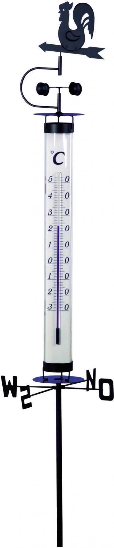 Termometru analogic de grădină, negru, TFA 12.2035