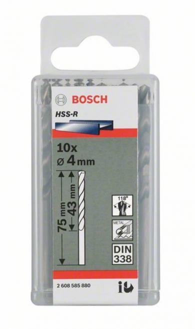 Burghiu spiral HSS (oţel rapid), DIN 338, Ø 6,4 mm, lungime 101 mm, 10 buc., Bosch