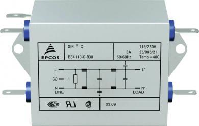 Filtru deparazitare SIFI C, atenuare înaltă, Epcos, tip B84113CB110, 10 A