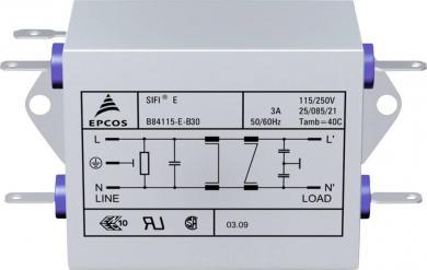 Filtru deparazitare SIFI E, atenuare înaltă, Epcos, tip B84115EB30, 3 A