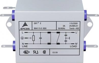 Filtru deparazitare SIFI E, atenuare înaltă, Epcos, tip B84115EB110, 10 A