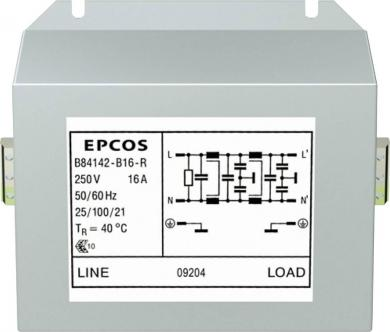 Filtru deparazitare pentru convertor şi electronică de putere, Epcos, tip B84142-B16-R, 8 - 25 A