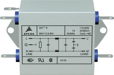 Filtru deparazitare SIFI B, atenuare mărită, Epcos, tip B84112BB30, 3 A