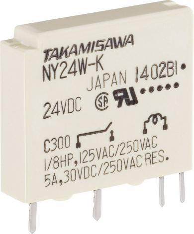 Releu miniatură îngust seria NY Takamisawa NY-24W-K-IE, 24 V