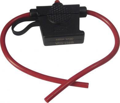 Suport siguranţă plată auto Standard - cu led, 12/24 V/DC, 30 A