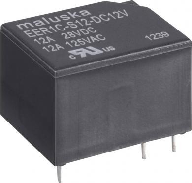 Releu miniatură, 12 A, 1 x UM, etanş (lavabil) EER1 12VDC 12 V