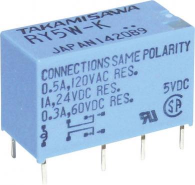 Releu miniatură DIL seria RY Takamisawa RY-05W-K 5 V/DC