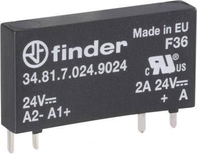 Releu semiconductor pentru circuite imprimate, seria 34 Finder, tip 34.81.7.060.9024, 24 V/DC