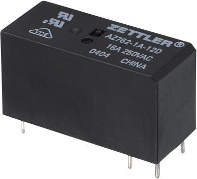 Releu miniatură AZ762, 16 A Zettler Electronics AZ762-1A-12DE 12 V/DC