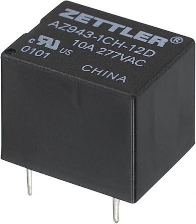 Releu print miniatură AZ943, 15 A Zettler Electronics AZ943-1CH-9DE 9 V/DC