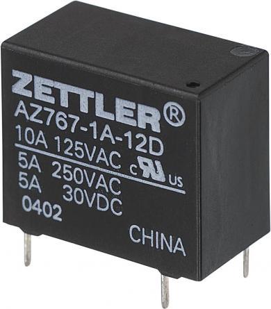 Releu de putere subminiatură AZ767, 10 A Zettler Electronics AZ767-1A-6DE 6 V/DC