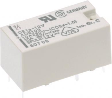 Releu de putere DE 10 A/16 A circuit imprimat, Panasonic DE1A1B12, 12 V/DC