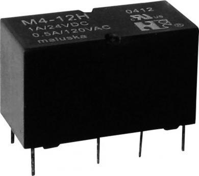 Mini-releu, 2 contacte de comutare, etanş (lavabil), tip M4-05H, 5 V/DC