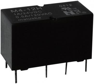 Mini-releu, 2 contacte de comutare, etanş (lavabil), tip M4-24H 24 V/DC