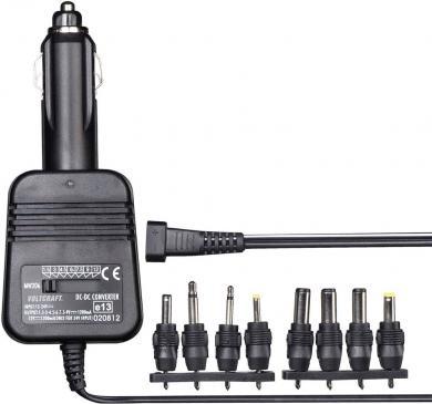 Adaptor alimentare auto Voltcraft 206, 1,4 V/DC / 1200 mA